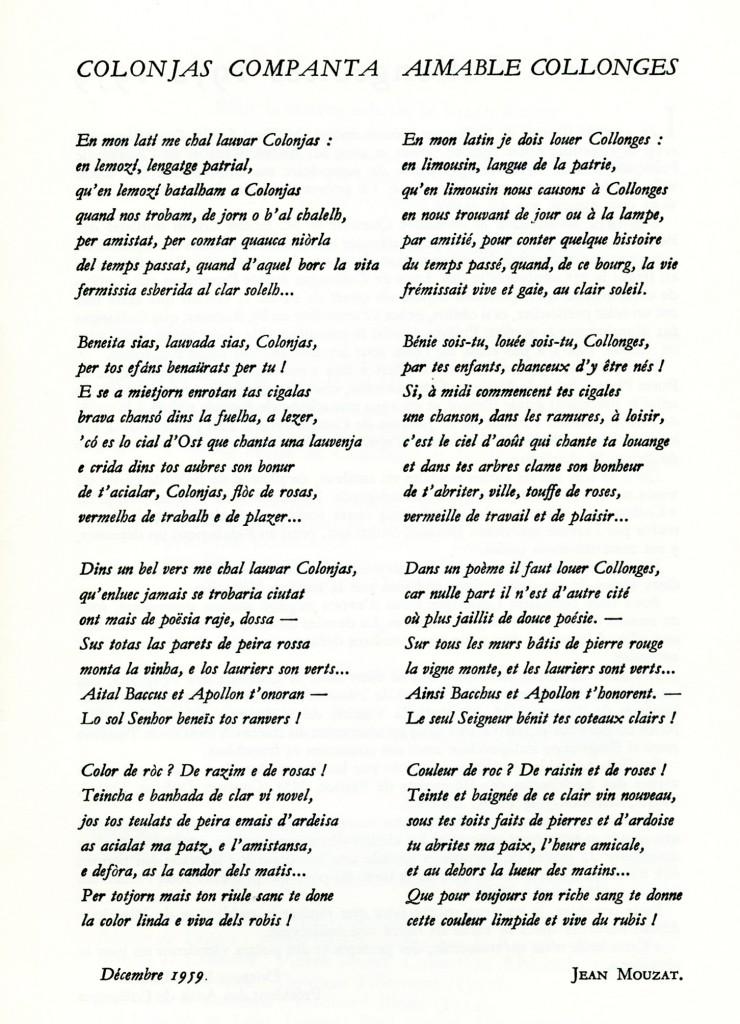 Poème Jean MOUZAT